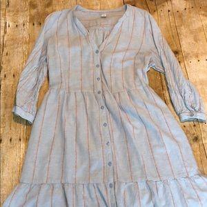 Gorgeous Linen ruffle dress